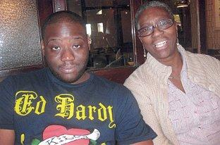 Croydon Guardian: Loving son: Seni and his mother Ajibola