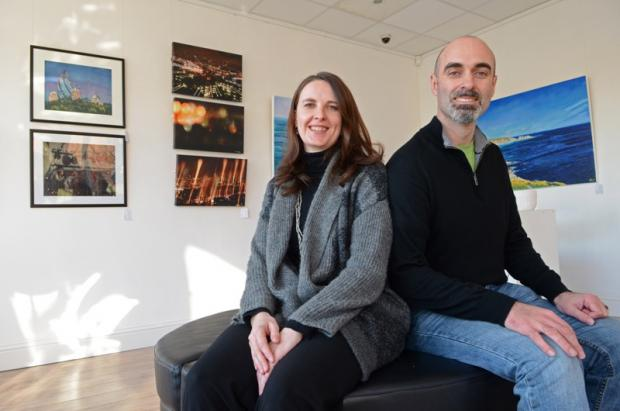 Husband and wife hold grand opening of gallery for 'one and all'