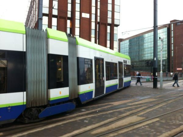 The tram derailed near East Croydon at about 7.30am. Photo: Adrian Steel
