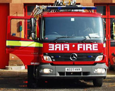 Four fire crews tackled the fire