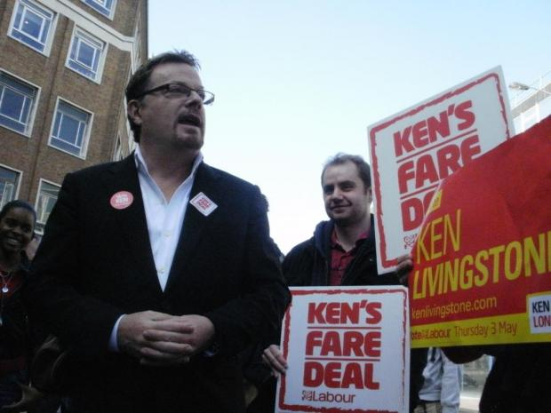 Eddie Izzard was in Croydon supporting Ken Livingstone