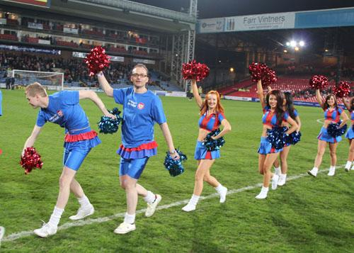 Cross-dressing cheerleaders at Crystal Palace