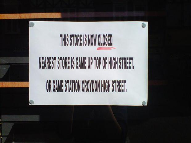 GameStation closes on Sutton High Street
