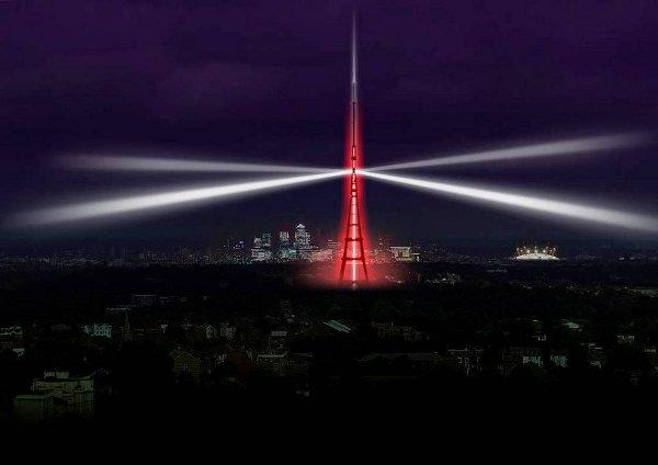 The transmitter at Crystal Palace will be lit up tomorrow
