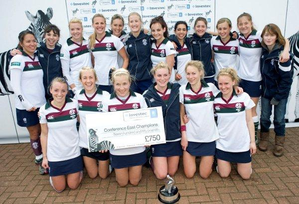 Croydon Guardian: History makers:  Surbiton Ladies celebrate winning the Women's Hockey League Conference East crown before securing promotion via the play-offs