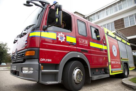 Fire crews extinguished illegal waste that had been set alight