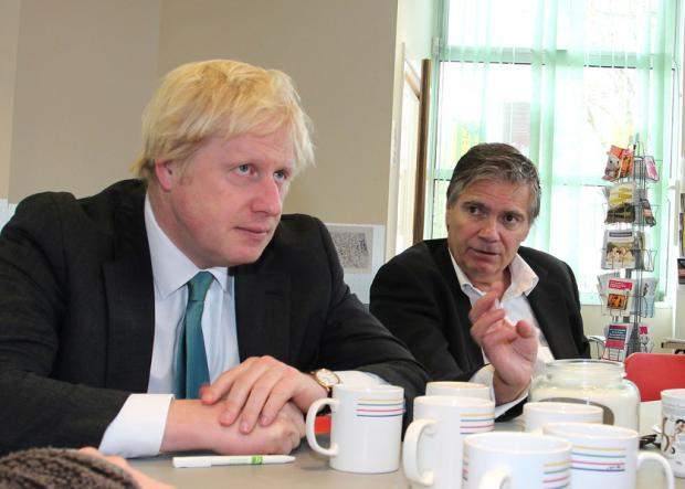 Croydon Guardian: Boris Johnson and Steve O'Connell on the campaign trail