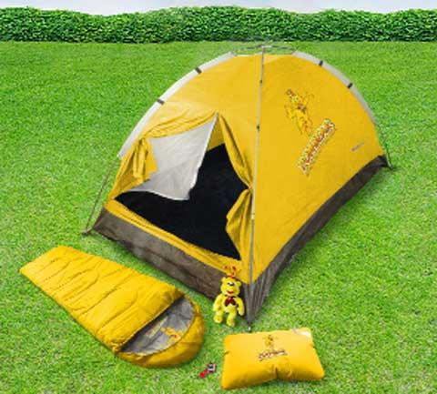Sainsburys' helps school get camping equipment