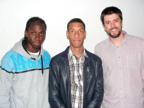 (L-R) Donovan Reid – left, Street league participant Clifford, and Programme co-ordinator Mark Bishop