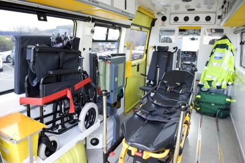 The woman was taken to hospital from Kenley in an ambulance similar to this
