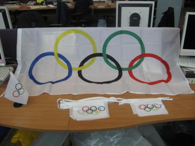 The Olympic flags were on their way to Norwood