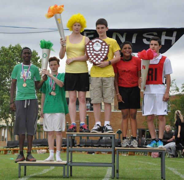 Students at Blenheim High School enjoyed an Olympics-themed sports day