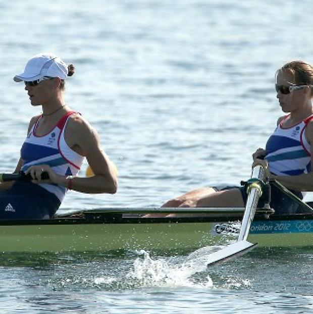 Heather Stanning, left, and Helen Glover, right, set a new Olympic record on Saturday