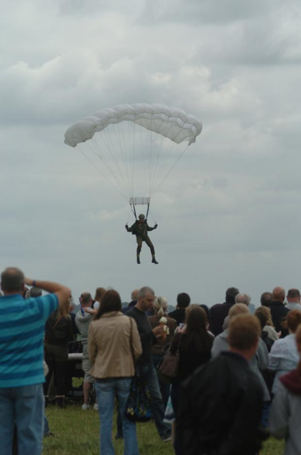 The fun day will include a parachute display