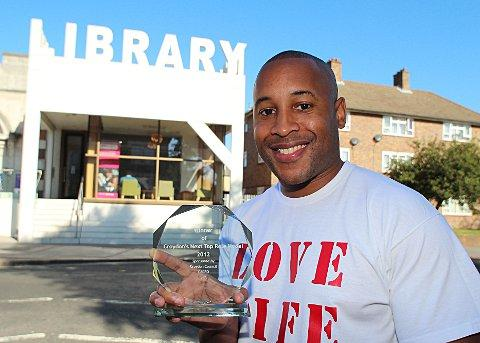 Chris Syrus winner of Croydon's Next Top Role Model runs the scheme