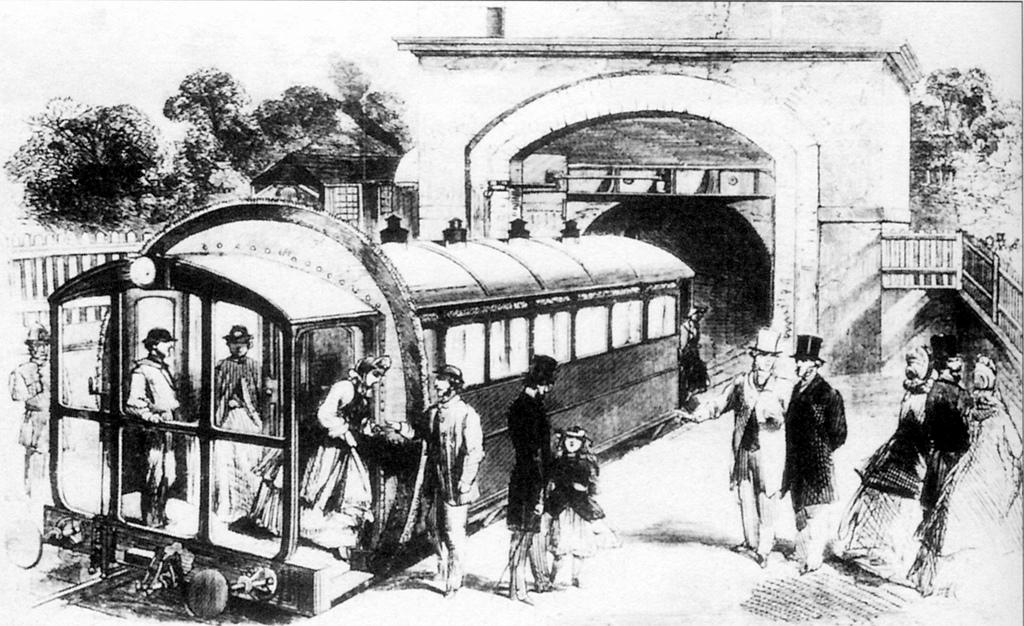 A sketch of the Crystal Palace railway