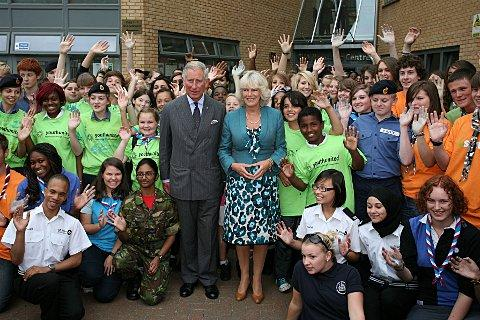 Prince Charles and Camilla last year outside the CVA
