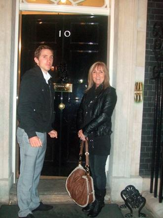 Maggie and Robbie Hughes at 10 Downing Street