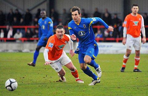 Bouncing back: Midfielder Steven Gregory returned to AFC Wimbledon on loan this week