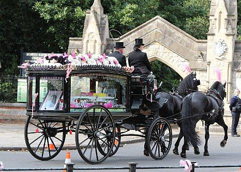 Tia Sharp's funeral is held