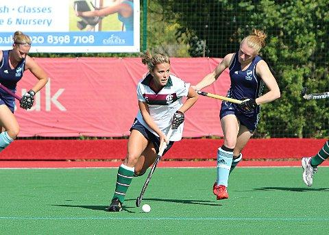 On the charge: Surbiton's Sarah Page led the charge at the weekend as she netted the opener in a four-goal romp