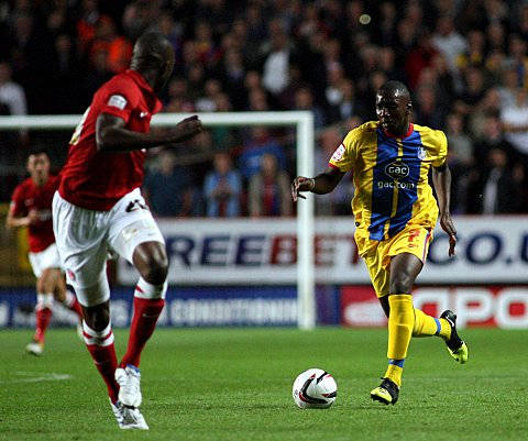 Yannick Bolasie drives forward