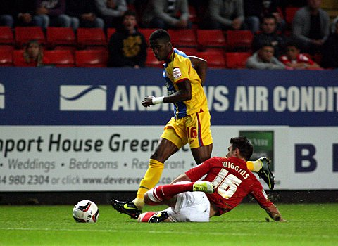 Croydon Guardian: Rhoys Wiggins slides in on Wilfried Zaha