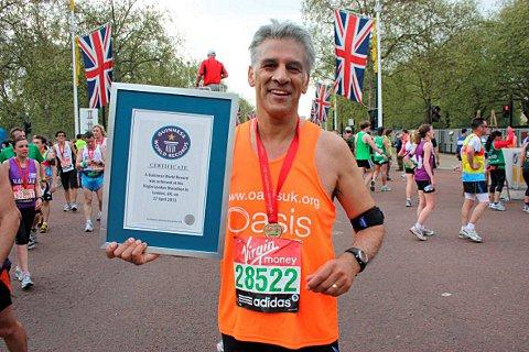 Steve Chalke after the 2011 London Marathon