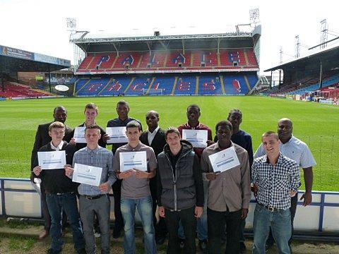 Young people attend Selhurst Park for Street League graduation event