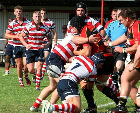 Loose ball: The Park defence stop a Cinderford attack in its tracks to force a turnover at the weekend, but a series of blunders cost them dear	David Whittam