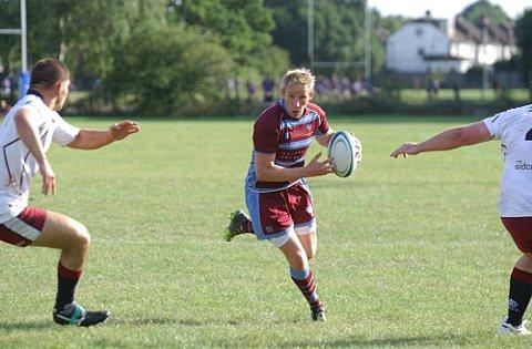 Try as you might: Neil Hallet got on the scoresheet for Wimbledon but it was not enough to prevent defeat to Sidcup