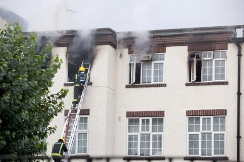 Twenty homes were destroyed in the blaze at the Croydon block