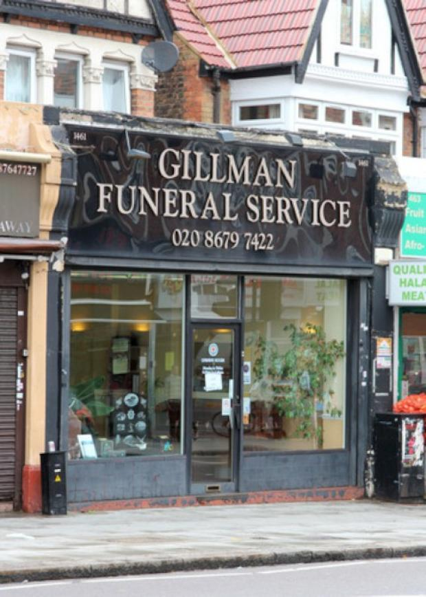 Croydon staff of Gillman Funeral Services were not involved