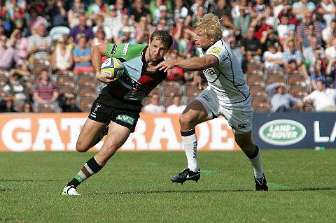 Playmaker: Quins fly half Nick Evans is ready for a rough ride on Sunday