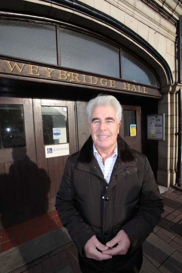 Elmbridge resident Max Clifford made a a generous donation towards the Weybridge Hall refurbishment