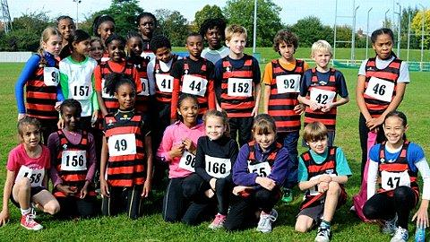 Four-midable: Herne Hill Harriers winning quad kids team