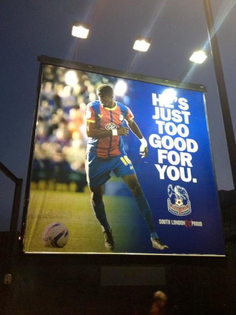 A towering Wilfried Zaha looks over the South Circular, Streatham