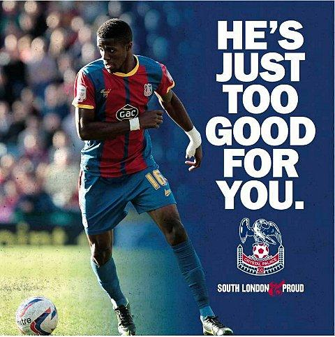 Attention from all quarters: Wilfried Zaha and his Palace team mates are finding themselves in the spotlight in all sorts of guises