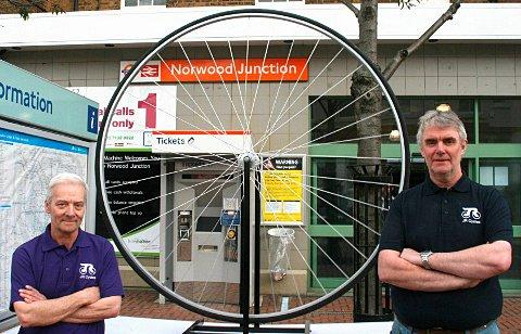 John Rother, left, and friend Rab McEwan, right, hope their new shop will bring a lift to the area