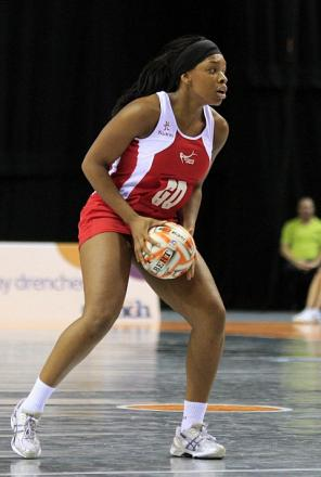 Cheam star: Netballer Eboni Beckford-Chambers in action for England                      Chris Mangnall /SWPix