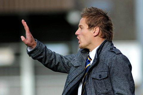 No first day magic touch: Neal Ardley orchestrates proceedings from the touchline     SP70799