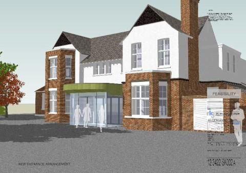 Artists impression of Purley Hospital's new outpatients entrance