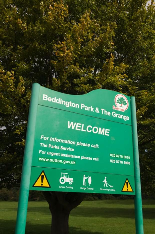 Croydon Guardian: The incident happened in Beddington Park yesterday
