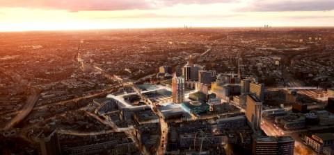 Aerial view of Hammerson plans.