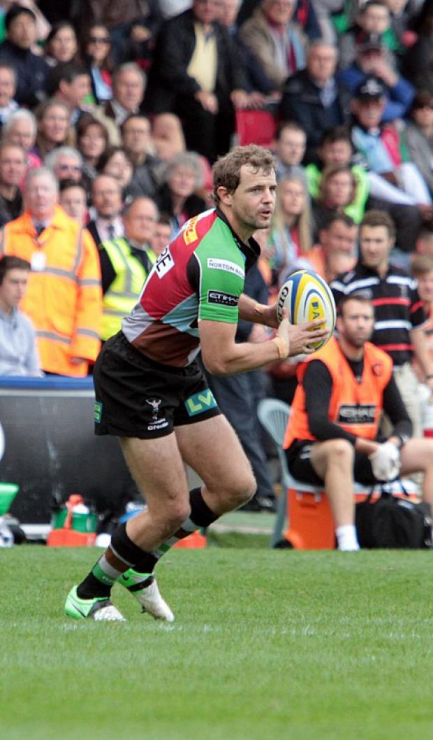 Staying put: Nick Evans will be at Harlequins for another three years