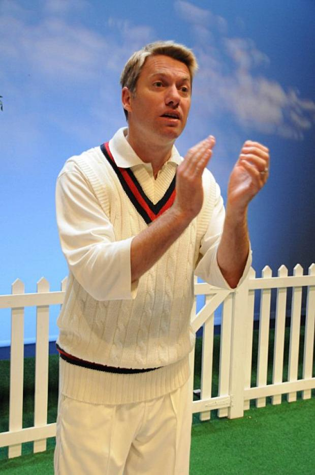 Stephen Beckett plays a variety of characters in the play