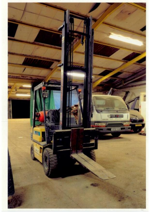The type of lift truck which was not examined properly