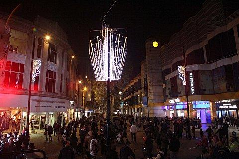 Croydon Christmas lights switched on