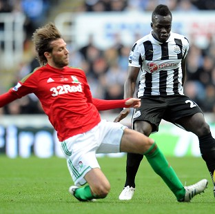 Michu, left, hit the winner to send Swansea into the top half of the table