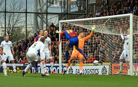 On target again: Glenn Murray finds the back of the net to open the scoring against Derby County on Saturday    SP70856
